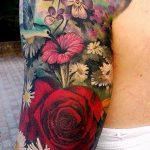 ЦВЕТНЫЕ ТАТУИРОВКИ №98 - достойный вариант рисунка, который хорошо можно использовать для переработки и нанесения как цветные татуировки на руку