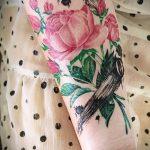 ЦВЕТНЫЕ ТАТУИРОВКИ №13 - классный вариант рисунка, который легко можно использовать для доработки и нанесения как татуировка цветное перо