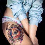 ЦВЕТНЫЕ ТАТУИРОВКИ №633 - достойный вариант рисунка, который успешно можно использовать для преобразования и нанесения как цветные татуировки на руку