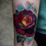 ЦВЕТНЫЕ ТАТУИРОВКИ №579 - классный вариант рисунка, который успешно можно использовать для переработки и нанесения как цветные татуировки для девушек