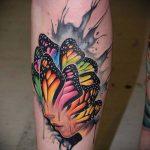 ЦВЕТНЫЕ ТАТУИРОВКИ №497 - достойный вариант рисунка, который хорошо можно использовать для переделки и нанесения как цветные татуировки на теле