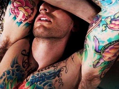 ЦВЕТНЫЕ ТАТУИРОВКИ №155 - крутой вариант рисунка, который легко можно использовать для переделки и нанесения как татуировка роза цветная