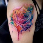 ЦВЕТНЫЕ ТАТУИРОВКИ №798 - достойный вариант рисунка, который легко можно использовать для доработки и нанесения как цветная татуировка лиса