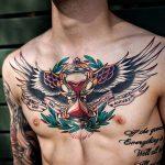 ЦВЕТНЫЕ ТАТУИРОВКИ №260 - интересный вариант рисунка, который удачно можно использовать для переработки и нанесения как татуировка сова цветная