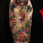 ЦВЕТНЫЕ ТАТУИРОВКИ №8 - интересный вариант рисунка, который успешно можно использовать для переделки и нанесения как цветные татуировки