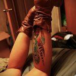 ЦВЕТНЫЕ ТАТУИРОВКИ №930 - интересный вариант рисунка, который хорошо можно использовать для переделки и нанесения как татуировка сова цветная