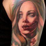 ЦВЕТНЫЕ ТАТУИРОВКИ №897 - крутой вариант рисунка, который легко можно использовать для доработки и нанесения как цветная татуировка на спине
