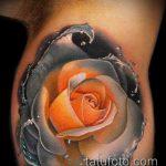 ЦВЕТНЫЕ ТАТУИРОВКИ №443 - крутой вариант рисунка, который успешно можно использовать для преобразования и нанесения как цветная татуировка лиса