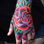 ЦВЕТНЫЕ ТАТУИРОВКИ №666 - уникальный вариант рисунка, который хорошо можно использовать для переработки и нанесения как татуировка роза цветная