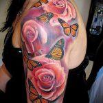 ЦВЕТНЫЕ ТАТУИРОВКИ №308 - крутой вариант рисунка, который успешно можно использовать для доработки и нанесения как цветные татуировки на руку
