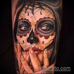 ЦВЕТНЫЕ ТАТУИРОВКИ №403 - интересный вариант рисунка, который хорошо можно использовать для преобразования и нанесения как цветная татуировка лиса