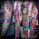 ЦВЕТНЫЕ ТАТУИРОВКИ №54 - прикольный вариант рисунка, который легко можно использовать для переработки и нанесения как цветные татуировки на груди