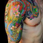 ЦВЕТНЫЕ ТАТУИРОВКИ №157 - классный вариант рисунка, который успешно можно использовать для переработки и нанесения как татуировка роза цветная