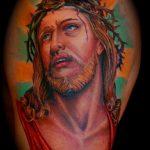 ЦВЕТНЫЕ ТАТУИРОВКИ №687 - классный вариант рисунка, который хорошо можно использовать для преобразования и нанесения как цветные татуировки на груди