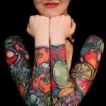 ЦВЕТНЫЕ ТАТУИРОВКИ №24 - прикольный вариант рисунка, который хорошо можно использовать для переработки и нанесения как татуировка роза цветная