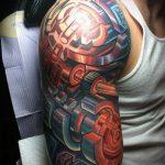 ЦВЕТНЫЕ ТАТУИРОВКИ №572 - интересный вариант рисунка, который успешно можно использовать для преобразования и нанесения как цветные татуировки на руку