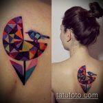 ЦВЕТНЫЕ ТАТУИРОВКИ №334 - крутой вариант рисунка, который легко можно использовать для доработки и нанесения как цветные татуировки для девушек