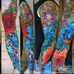 ЦВЕТНЫЕ ТАТУИРОВКИ №132 - классный вариант рисунка, который успешно можно использовать для доработки и нанесения как цветная татуировка на спине