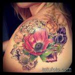 ЦВЕТНЫЕ ТАТУИРОВКИ №945 - крутой вариант рисунка, который легко можно использовать для переделки и нанесения как татуировка роза цветная