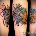 ЦВЕТНЫЕ ТАТУИРОВКИ №804 - крутой вариант рисунка, который хорошо можно использовать для переделки и нанесения как цветные татуировки на теле