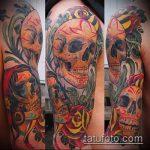 ЦВЕТНЫЕ ТАТУИРОВКИ №455 - интересный вариант рисунка, который легко можно использовать для переделки и нанесения как цветная татуировка лиса