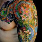 ЦВЕТНЫЕ ТАТУИРОВКИ №196 - достойный вариант рисунка, который удачно можно использовать для преобразования и нанесения как цветные татуировки для девушек