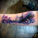 ЦВЕТНЫЕ ТАТУИРОВКИ №750 - уникальный вариант рисунка, который успешно можно использовать для переделки и нанесения как цветные татуировки