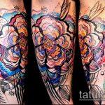 ЦВЕТНЫЕ ТАТУИРОВКИ №224 - интересный вариант рисунка, который удачно можно использовать для доработки и нанесения как цветные татуировки на груди