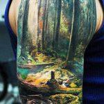 ЦВЕТНЫЕ ТАТУИРОВКИ №132 - уникальный вариант рисунка, который удачно можно использовать для переделки и нанесения как тигр цветной татуировка