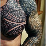ЭТНИЧЕСКИЕ ТАТУИРОВКИ №540 - достойный вариант рисунка, который легко можно использовать для доработки и нанесения как этнические татуировки на спине