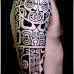 ЭТНИЧЕСКИЕ ТАТУИРОВКИ №227 - классный вариант рисунка, который хорошо можно использовать для доработки и нанесения как этнические татуировки обозначающие силу