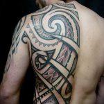 ЭТНИЧЕСКИЕ ТАТУИРОВКИ №510 - прикольный вариант рисунка, который легко можно использовать для переработки и нанесения как этнические татуировки воина