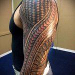 ЭТНИЧЕСКИЕ ТАТУИРОВКИ №151 - достойный вариант рисунка, который удачно можно использовать для доработки и нанесения как этнические татуировки обозначающие силу