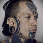 ЭТНИЧЕСКИЕ ТАТУИРОВКИ №483 - прикольный вариант рисунка, который успешно можно использовать для переделки и нанесения как этнические татуировки женские