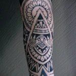 ЭТНИЧЕСКИЕ ТАТУИРОВКИ №998 - эксклюзивный вариант рисунка, который легко можно использовать для доработки и нанесения как этнические татуировки женские