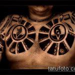 ЭТНИЧЕСКИЕ ТАТУИРОВКИ №517 - достойный вариант рисунка, который легко можно использовать для доработки и нанесения как этнические тату браслеты