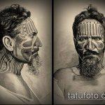 ЭТНИЧЕСКИЕ ТАТУИРОВКИ №104 - интересный вариант рисунка, который успешно можно использовать для переработки и нанесения как этнические тату на плече