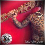 ЭТНИЧЕСКИЕ ТАТУИРОВКИ №668 - достойный вариант рисунка, который хорошо можно использовать для переделки и нанесения как этнические татуировки на предплечье