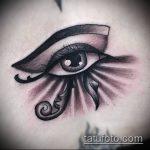 глаз гора тату №957 - интересный вариант рисунка, который удачно можно использовать для переработки и нанесения как глаз гора тату на шее