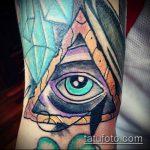 глаз гора тату №815 - интересный вариант рисунка, который легко можно использовать для преобразования и нанесения как тату глаз гора на шее