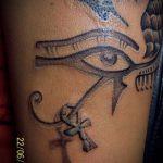 глаз гора тату №178 - достойный вариант рисунка, который успешно можно использовать для доработки и нанесения как глаз гора тату оберег