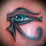 глаз гора тату №628 - уникальный вариант рисунка, который хорошо можно использовать для доработки и нанесения как глаз гора тату для мужчин
