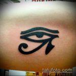 глаз гора тату №671 - достойный вариант рисунка, который легко можно использовать для переделки и нанесения как глаз гора тату с зеленым глазом