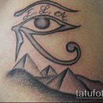 глаз гора тату №13 - уникальный вариант рисунка, который хорошо можно использовать для переработки и нанесения как глаз гора тату для мужчин
