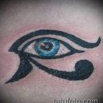 глаз гора тату №972 - уникальный вариант рисунка, который удачно можно использовать для доработки и нанесения как глаз гора тату на запястье