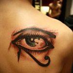 глаз гора тату №825 - крутой вариант рисунка, который хорошо можно использовать для доработки и нанесения как тату глаз гора значение для женщин