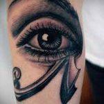 глаз гора тату №975 - прикольный вариант рисунка, который хорошо можно использовать для переделки и нанесения как глаз гора тату оберег
