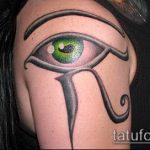 глаз гора тату №41 - интересный вариант рисунка, который хорошо можно использовать для доработки и нанесения как глаз гора тату правый или левый