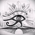 глаз гора тату №556 - крутой вариант рисунка, который удачно можно использовать для переделки и нанесения как глаз гора тату на спине