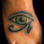 глаз гора тату №274 - крутой вариант рисунка, который удачно можно использовать для переделки и нанесения как тату глаз гора на шее
